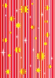 Seamless vector wallpaper. Seamless red  wallpaper with stars. Easy to edit Royalty Free Stock Photo