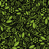 Seamless vector wallpaper. Green pattern Stock Photo