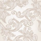 Seamless vector wallpaper pattern with swirl floral element Royalty Free Stock Image