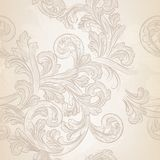 Seamless vector wallpaper pattern with swirl floral element Stock Photo