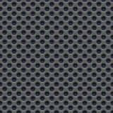 Seamless vector wallpaper of perforated gray metal plate. Royalty Free Stock Photo