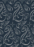 Seamless vector wallpaper. Vintage calligraph Stock Images