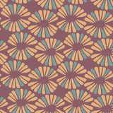 Seamless vector warm pattern with retro flowers. For fabric, textile, wrapping, craft Stock Photography