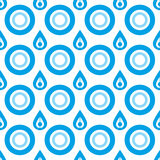 Seamless Vector Water Droplet Pattern Royalty Free Stock Photography