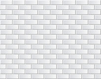 Seamless vector white brick wall - background pattern stock illustration