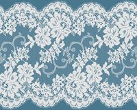 Seamless Vector White Lace Royalty Free Stock Image
