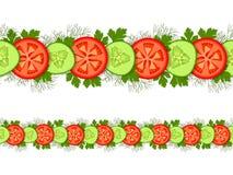 Seamless vegatable ornament Stock Photography