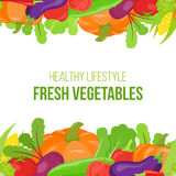 Seamless vegetable border Stock Photo