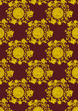 Seamless vegetable gold(en) pattern Royalty Free Stock Image