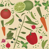 Seamless vegetable pattern Stock Photography
