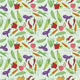 Seamless vegetable pattern Stock Photo