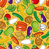 Seamless vegetable pattern. Vector drawing Royalty Free Stock Photography