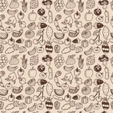 Seamless vegetable pattern Royalty Free Stock Image