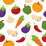 Seamless vegetable wallpaper. Stock Images