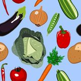 Seamless Vegetables Background Royalty Free Stock Photo