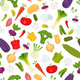 Seamless Vegetables Background Stock Photo