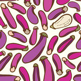 Seamless vegetables eggplant pattern background Royalty Free Stock Images
