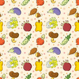 Seamless Vegetables pattern Stock Image