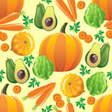 Seamless vegetables pattern Royalty Free Stock Image