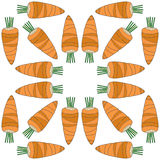 Seamless vegetables pattern of carrots Stock Images