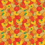 Seamless vegetables pattern Royalty Free Stock Photo