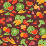 Seamless vegetarian pattern with vegetables Royalty Free Stock Image