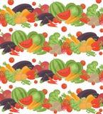 Seamless vegetarian vector pattern Stock Photography