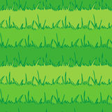 Seamless vegetation background. Green grass. vecto Stock Photo