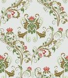 Seamless vegetative pattern royalty free stock photography