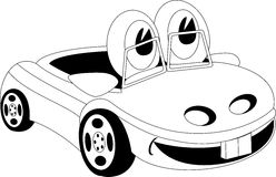 seamless vektor för biltecknad filmmodell Arkivfoto