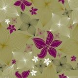 seamless vektor för blom- för blomma modell lilly vektor illustrationer