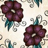 seamless vektor för blom- modell Royaltyfria Bilder