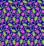 seamless vektor för dekorativ blom- illustrationmodell Arkivbilder