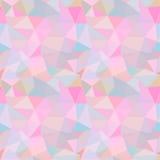 seamless vektor för modell Abstrakt bakgrund med färgrika trianglar Royaltyfri Foto