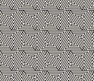 seamless vektor för modell abstrakt bakgrund Upprepa geometriskt belägga med tegel från randig triangelelementsr Royaltyfri Bild