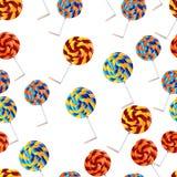 seamless vektor för modell Bakelse gulliga muffin, klubbor Arkivfoto