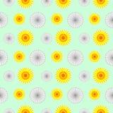 seamless vektor för modell Bakgrund med beståndsdelar av blommor Royaltyfri Bild