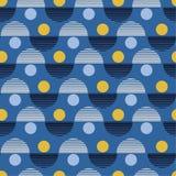 seamless vektor för modell Färgrik abstrakt bakgrund med rundan stock illustrationer
