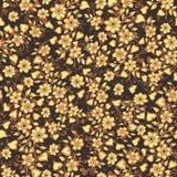 seamless vektor för modell Gullig modell i små blomma och hjärtor abstrakt bakgrundsbrown lines bilden Ditsy blom- bakgrund Det e Royaltyfria Foton