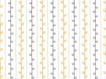 seamless vektor för modell Hand dragen filialillustration Abstrakta vertikala linjer och ris på vit bakgrund Royaltyfria Bilder