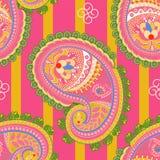 seamless vektor för modell Indisk blom- prydnad Färgrik dekorativ tapet Paisley och växter också vektor för coreldrawillustration stock illustrationer