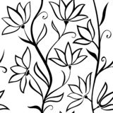 seamless vektor för modell Krabba stammar med blommor som isoleras på en vit bakgrund vektor illustrationer