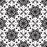 seamless vektor för modell Modern geometrisk textur, blom- backgr royaltyfri illustrationer