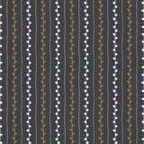 seamless vektor för modell Vertikala linjer och ris på mörk grå bakgrund Arkivbilder