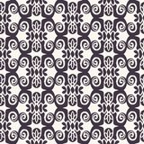 seamless vektor f?r modell Abstrakt etnisk stam- scandistil Upprepa tegelplattabakgrund Monokrom ytbehandlar designtextilprovkart royaltyfri illustrationer