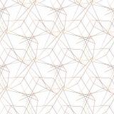 seamless vektor f?r modell geometrisk bakgrund abstrakt geometrisk modell guld- textur seamless geometrisk modell royaltyfri illustrationer