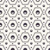 seamless vektor f?r modell Prickiga sexhörniga täckeformer Upprepa geometrisk tegelplattabakgrund Monokrom yttersidadesigntextil royaltyfri illustrationer