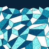 seamless vektor f?r modell Stilfull mosaiktextur Utdragen linj?r bakgrund f?r hand med strukturen av ingreppet stock illustrationer