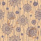 seamless vektor för härlig blom- illustration Royaltyfria Foton