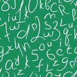 Seamless vektormodell med nummer och bokstäver Royaltyfri Bild